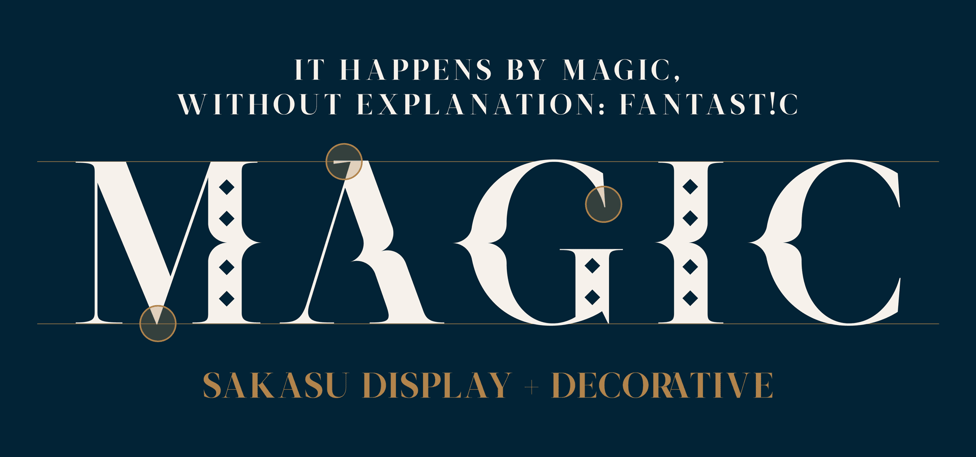 """Magic"" word with Sakasu Decorative"