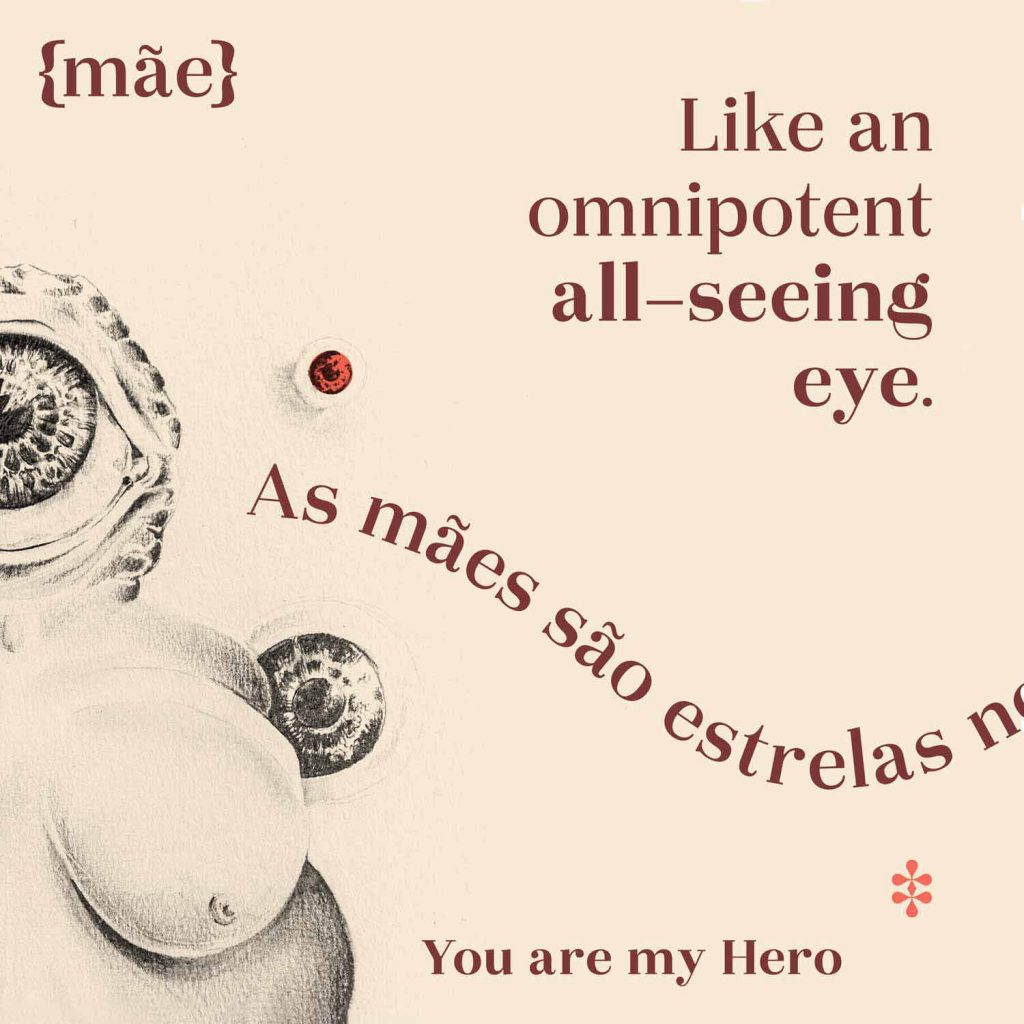 """You are my hero"" and Venus of Willendorf illustration for Okaasan Serif"