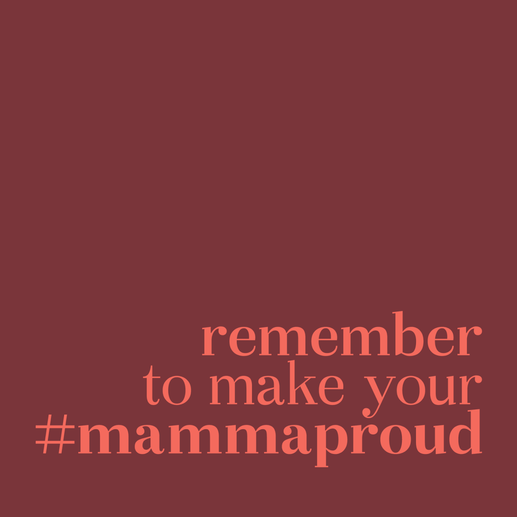 """remember to make mammaproud"" . Okaasan Serif"