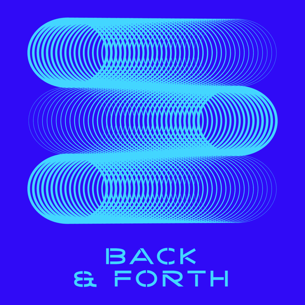"Comet movement ""Back & Forth"" using Kaito Sans font"