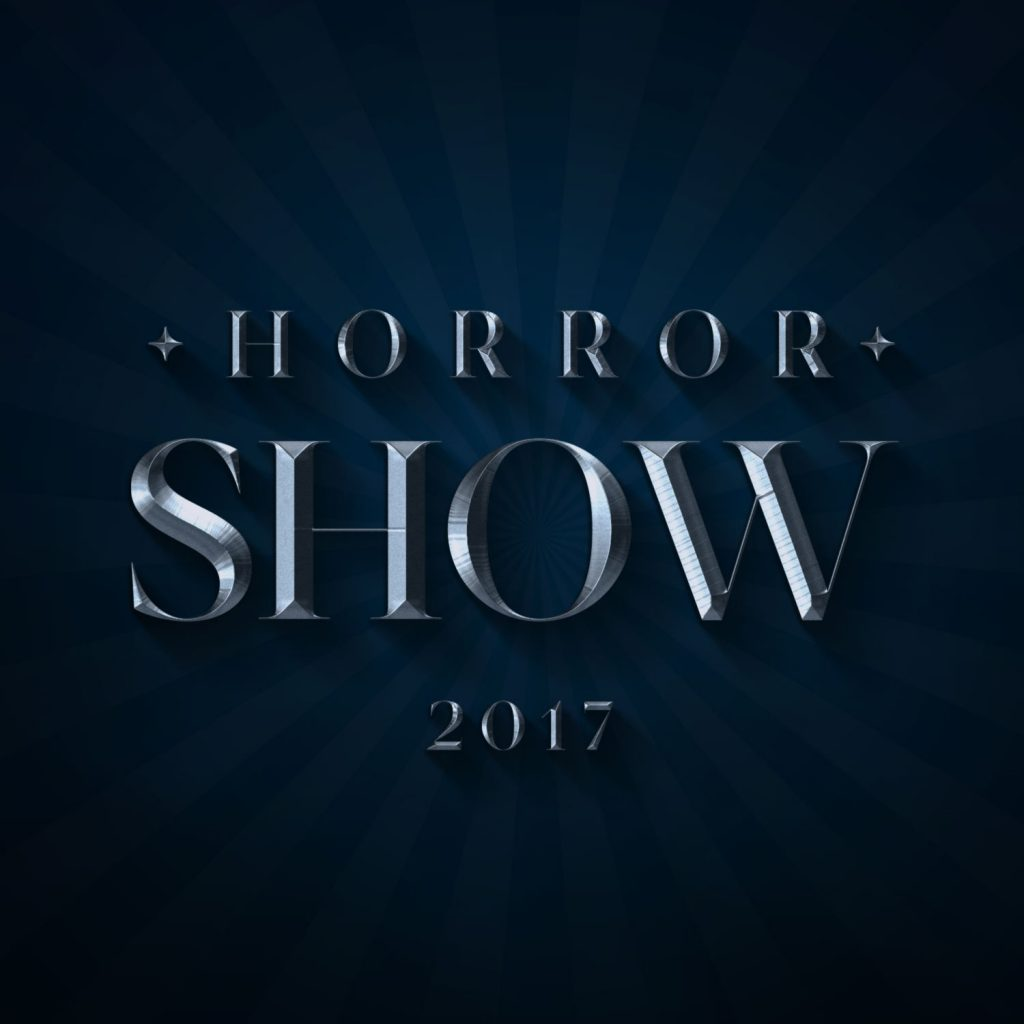 """Horror Show"" extruded word with Sakasu Display"