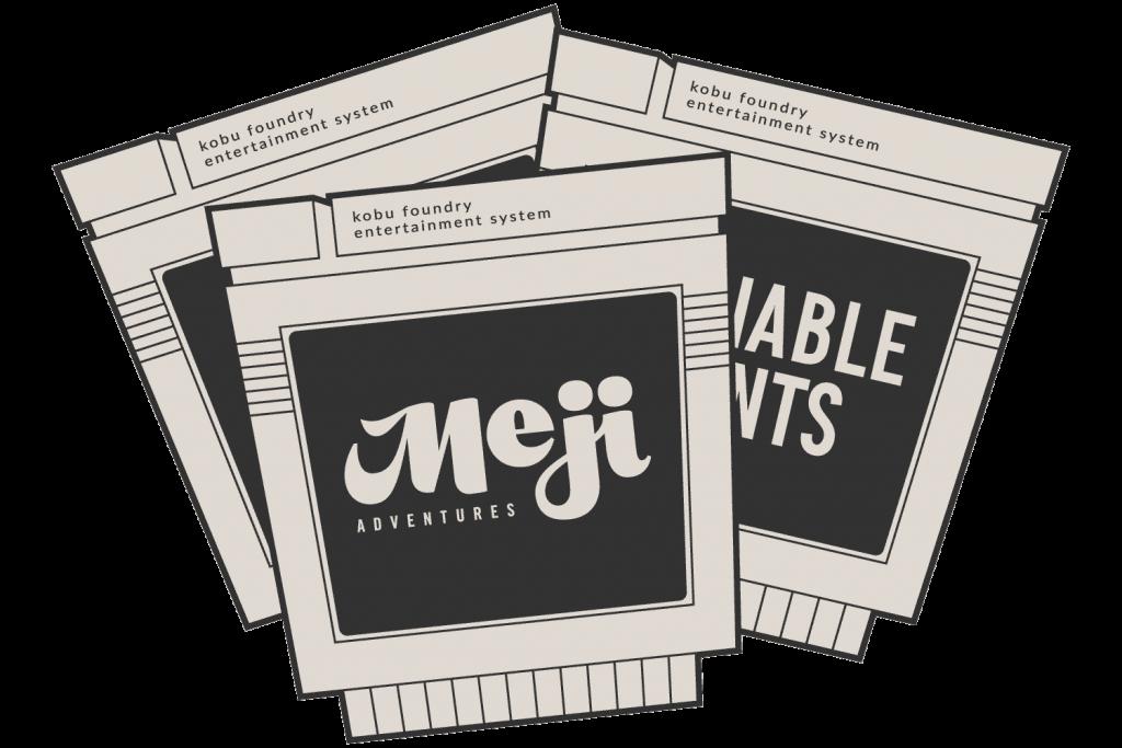 The Meji Adventures game cartridge
