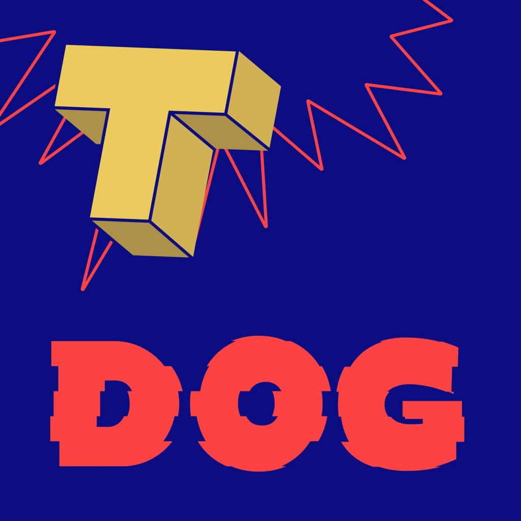 """HOT DOG"" characters in 3D using Kawaru typeface"