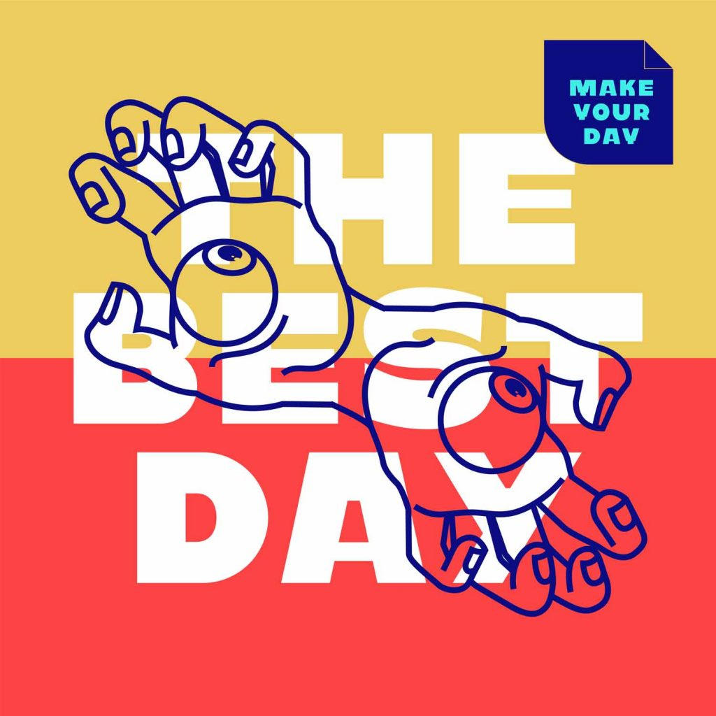 """They Best Day"" with Kawaru typeface"